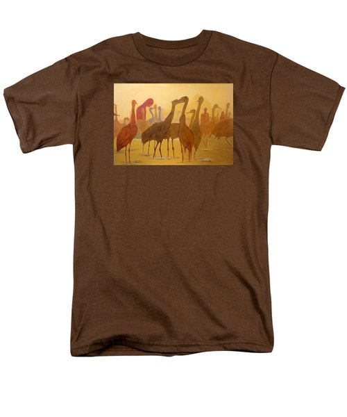 Men's T-Shirt  (Regular Fit) featuring the painting Shapes Just Shapes Formas Nada Mas by Lazaro Hurtado
