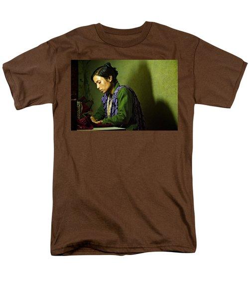 She Sews Into The Night Men's T-Shirt  (Regular Fit) by Valerie Rosen