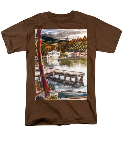 Shepherd Mountain Lake In Twilight Men's T-Shirt  (Regular Fit)