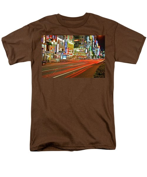 Shinjuku Neon Strikes Men's T-Shirt  (Regular Fit) by Jonah  Anderson