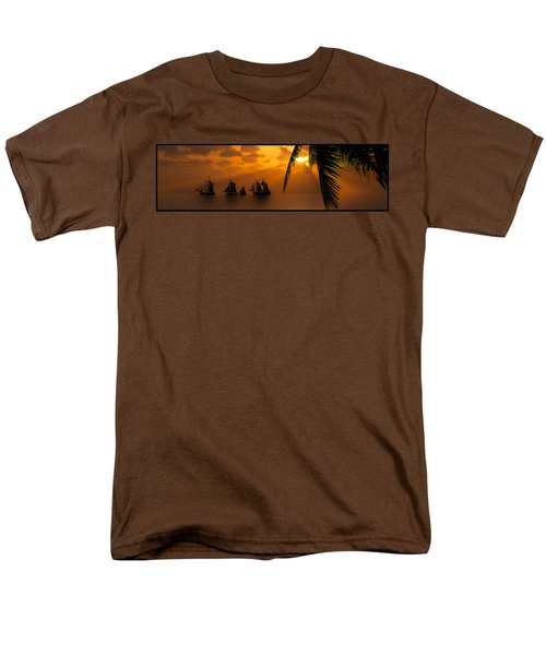 Ships And The Golden Dawn... Men's T-Shirt  (Regular Fit) by Tim Fillingim
