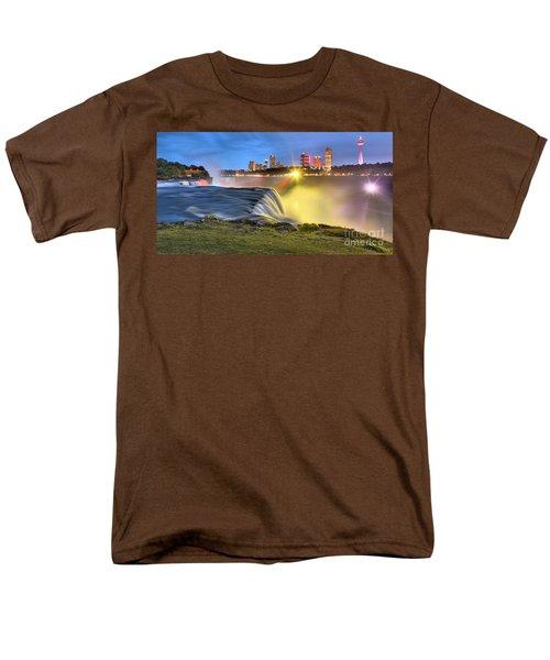 Silky Niagara Falls Panoramic Sunset Men's T-Shirt  (Regular Fit) by Adam Jewell