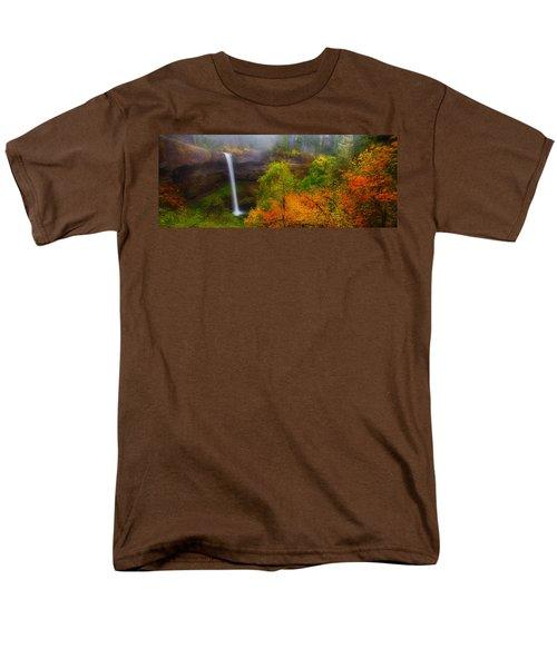 Silver Falls Pano Men's T-Shirt  (Regular Fit) by Darren  White