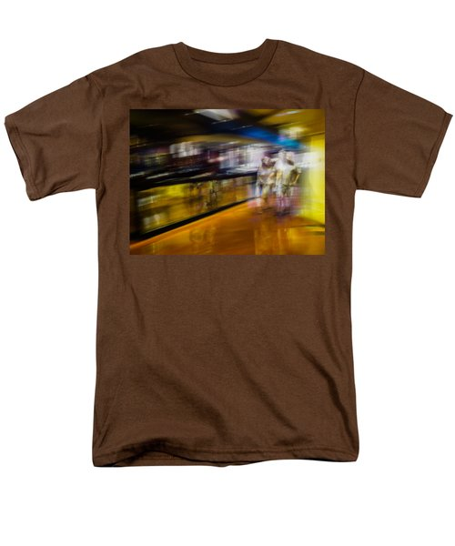 Men's T-Shirt  (Regular Fit) featuring the photograph Silver People In A Golden World by Alex Lapidus