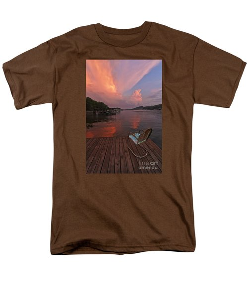 Sittin' On The Dock Men's T-Shirt  (Regular Fit) by Dennis Hedberg