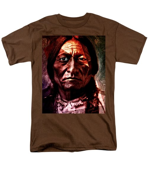 Men's T-Shirt  (Regular Fit) featuring the painting Sitting Bull - Warrior - Medicine Man by Hartmut Jager