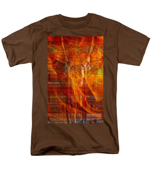 Skull On Fire Men's T-Shirt  (Regular Fit)