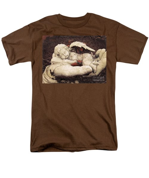 Men's T-Shirt  (Regular Fit) featuring the photograph Baby Angel Sleeping In Gods Hands by Ella Kaye Dickey