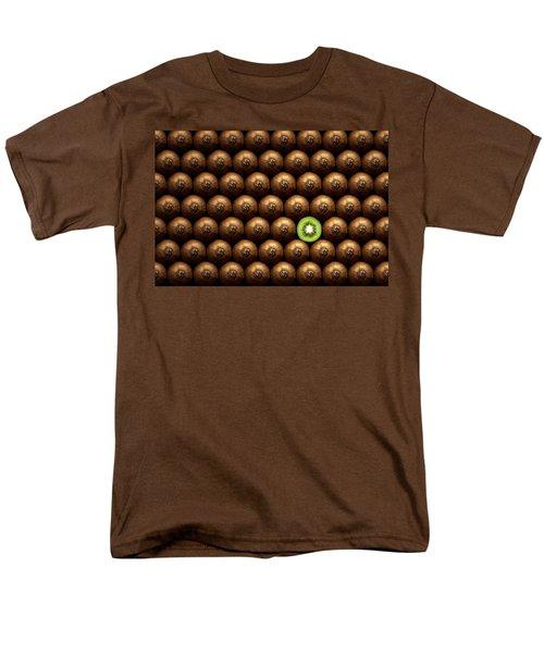 Sliced Kiwi Between Group Men's T-Shirt  (Regular Fit) by Johan Swanepoel
