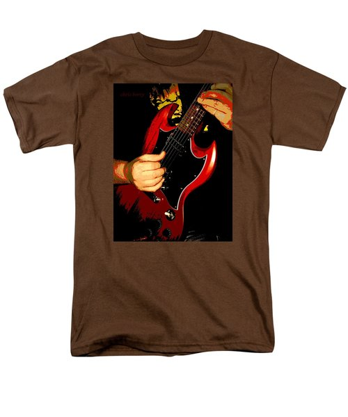 Red Gibson Guitar Men's T-Shirt  (Regular Fit)