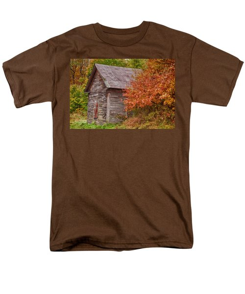 Small Wooden Shack In The Autumn Colors Men's T-Shirt  (Regular Fit) by Jeff Folger