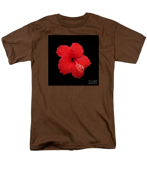 Men's T-Shirt  (Regular Fit) featuring the photograph Snowflake Hibiscus by Judy Whitton