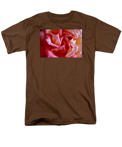 Men's T-Shirt  (Regular Fit) featuring the photograph Soft Pink Petals Of A Rose by Janice Rae Pariza