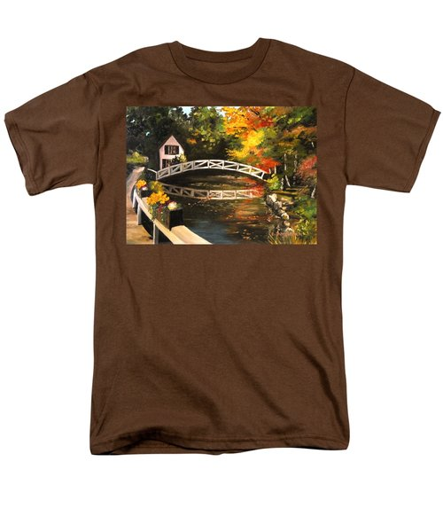 Somesville Maine Footbridge Men's T-Shirt  (Regular Fit) by Eileen Patten Oliver