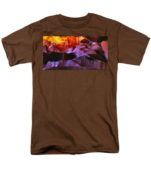 Men's T-Shirt  (Regular Fit) featuring the photograph Somewhere In America Series - Transition Of The Colors In Antelope Canyon by Lilia D