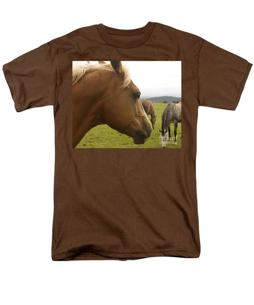 Men's T-Shirt  (Regular Fit) featuring the photograph Sorrel Horse Profile by Belinda Greb