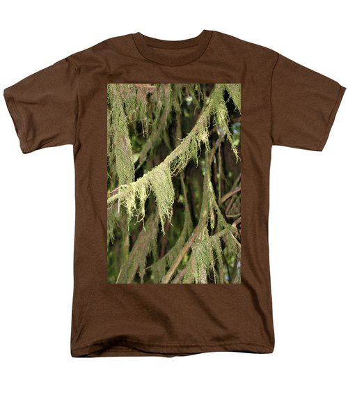 Spanish Moss In Olympic National Park Men's T-Shirt  (Regular Fit) by Connie Fox
