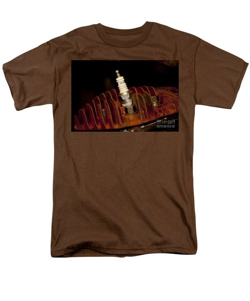 Sparkplug And Rusty Cooling Fins Men's T-Shirt  (Regular Fit) by Wilma  Birdwell