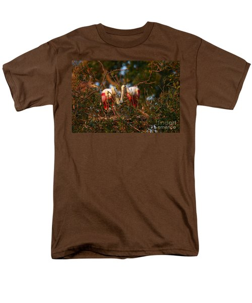 Men's T-Shirt  (Regular Fit) featuring the photograph Spoonbill Love Nest by John F Tsumas