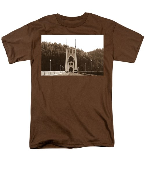 St. John's Bridge Men's T-Shirt  (Regular Fit) by Patricia Babbitt