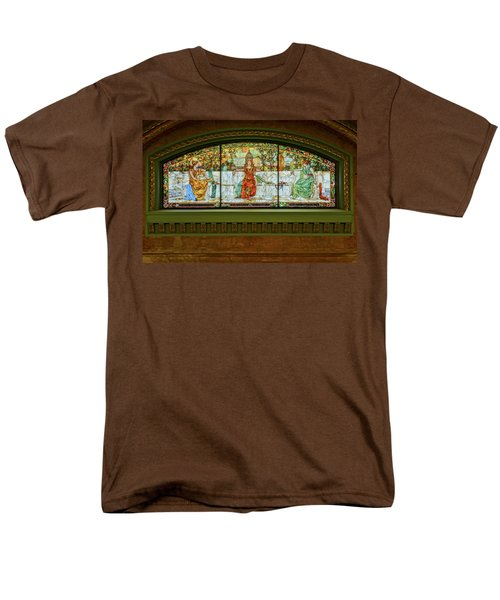 St Louis Union Station Allegorical Window Men's T-Shirt  (Regular Fit) by Greg Kluempers