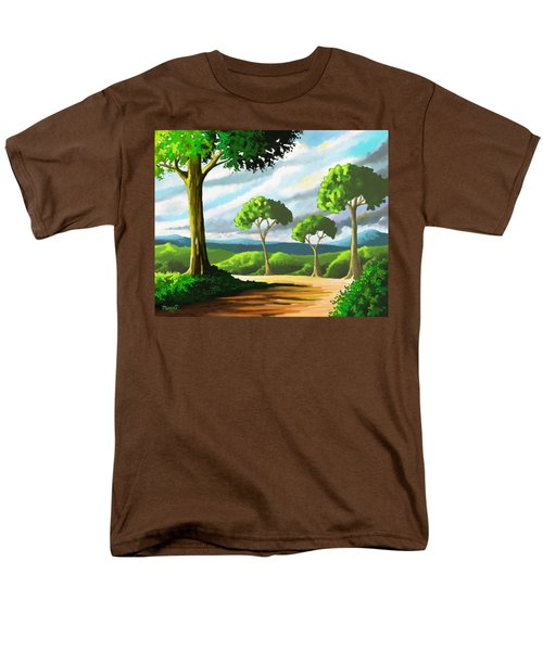 Men's T-Shirt  (Regular Fit) featuring the painting Standing Tall by Anthony Mwangi