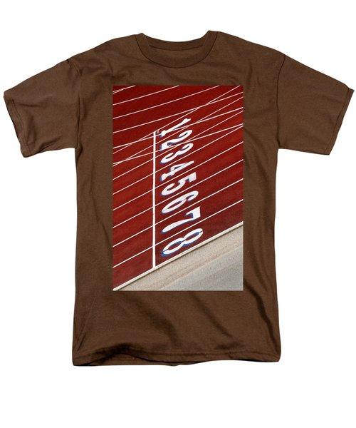 Track Starting Line Men's T-Shirt  (Regular Fit) by Phil Cardamone