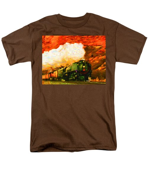 Steam And Sandstone Men's T-Shirt  (Regular Fit) by Chuck Mountain