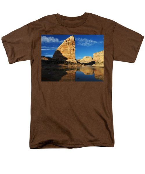 Steamboat Rock In Dinosaur National Monument Men's T-Shirt  (Regular Fit) by Nadja Rider