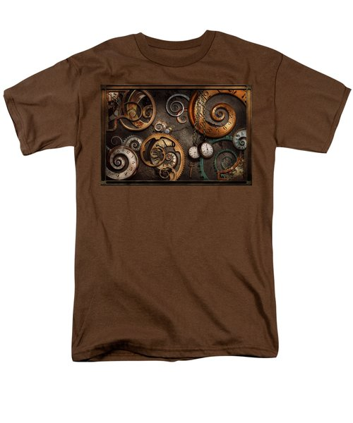 Steampunk - Abstract - Time Is Complicated Men's T-Shirt  (Regular Fit) by Mike Savad