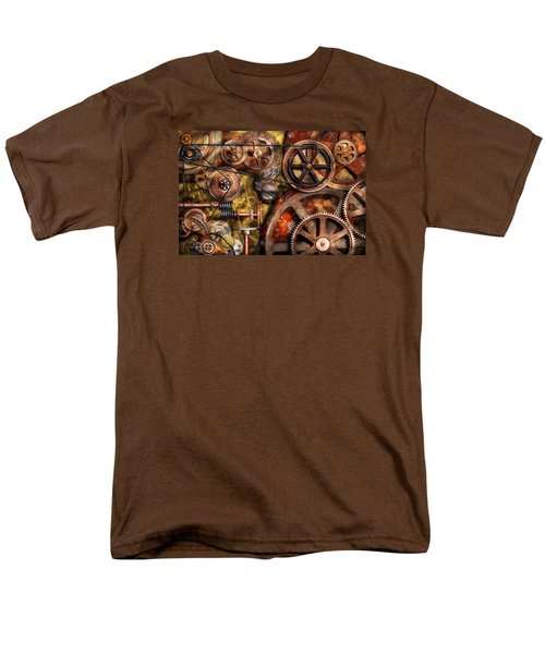 Steampunk - Gears - Inner Workings Men's T-Shirt  (Regular Fit) by Mike Savad
