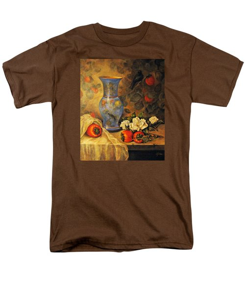 Still Life Of Persimmons  Men's T-Shirt  (Regular Fit) by Donna Tucker