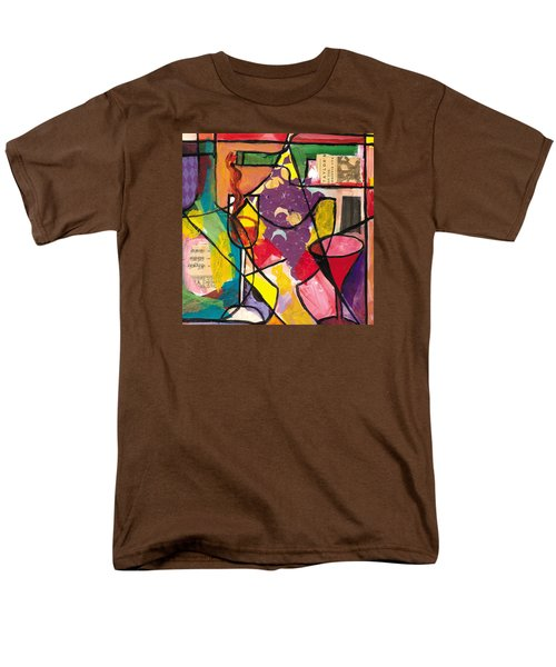 Still Life With Wine And Fruit B Men's T-Shirt  (Regular Fit) by Everett Spruill