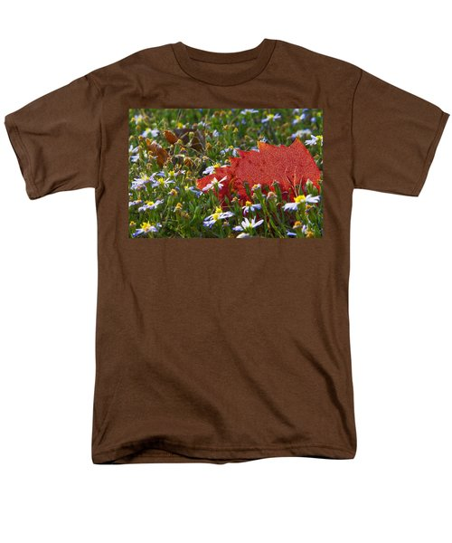 Men's T-Shirt  (Regular Fit) featuring the photograph Stocking Up For The Winter by Gary Holmes