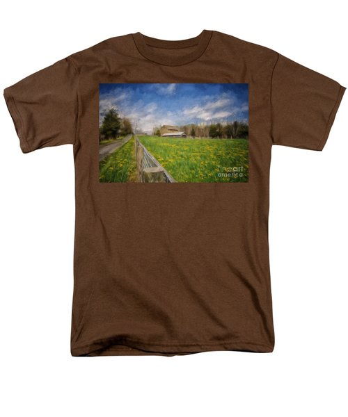 Stone Barn On A Spring Morning Men's T-Shirt  (Regular Fit) by Lois Bryan