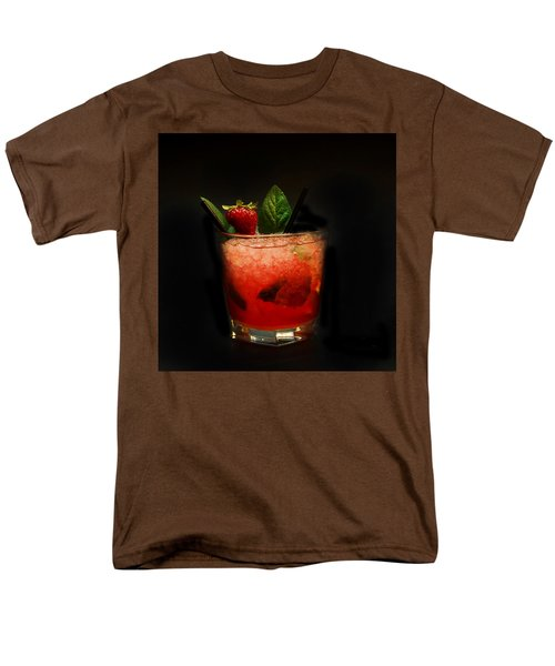 Strawberry Mojito Men's T-Shirt  (Regular Fit) by Gina Dsgn