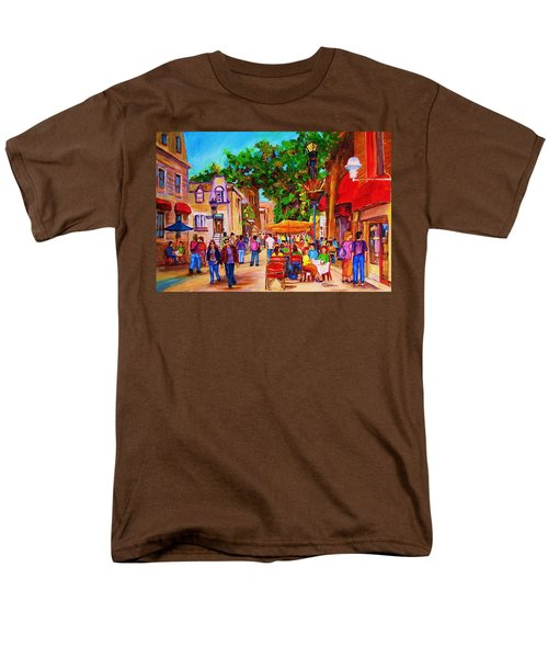 Men's T-Shirt  (Regular Fit) featuring the painting Summer Cafes by Carole Spandau