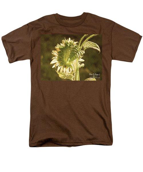 Men's T-Shirt  (Regular Fit) featuring the photograph Sun-lite Sunflowwer by Donna Brown