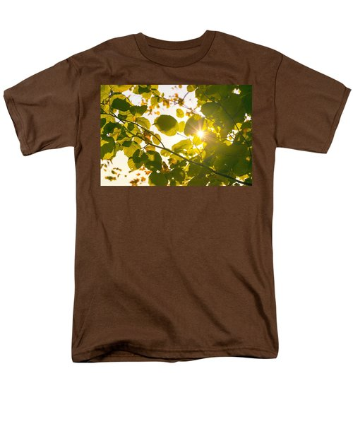 Men's T-Shirt  (Regular Fit) featuring the photograph Sun Shining Through Leaves by Chevy Fleet