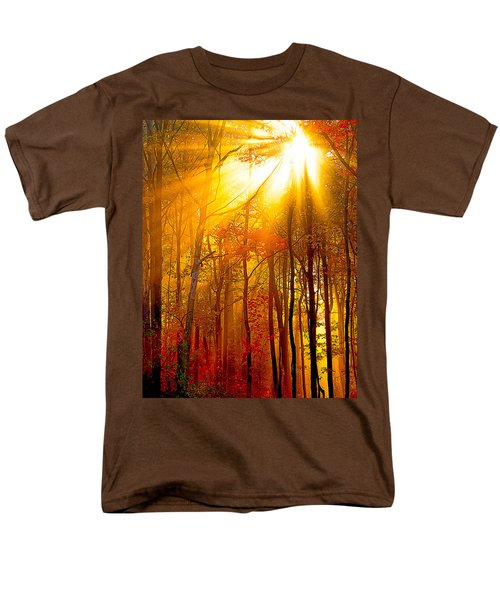 Sunburst In The Forest Men's T-Shirt  (Regular Fit) by Randall Branham