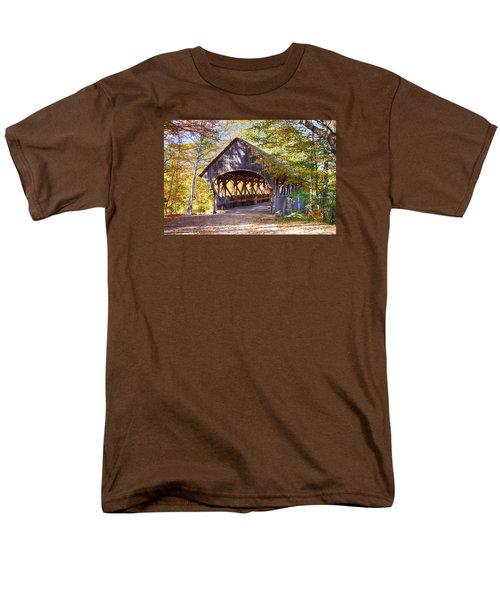 Sunday River Covered Bridge Men's T-Shirt  (Regular Fit) by Jeff Folger