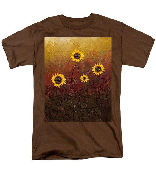 Sunflowers 3 Men's T-Shirt  (Regular Fit) by Carmen Guedez