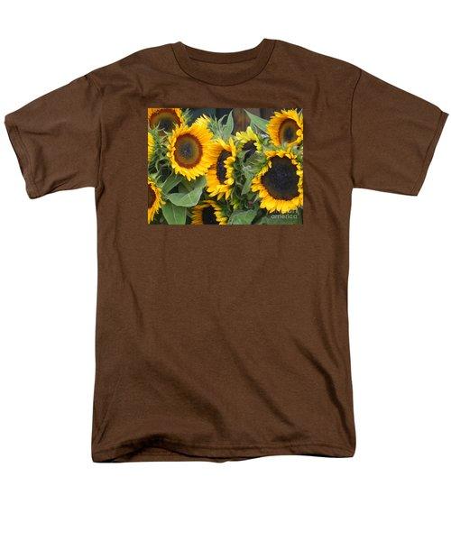 Sunflowers  Men's T-Shirt  (Regular Fit) by Chrisann Ellis