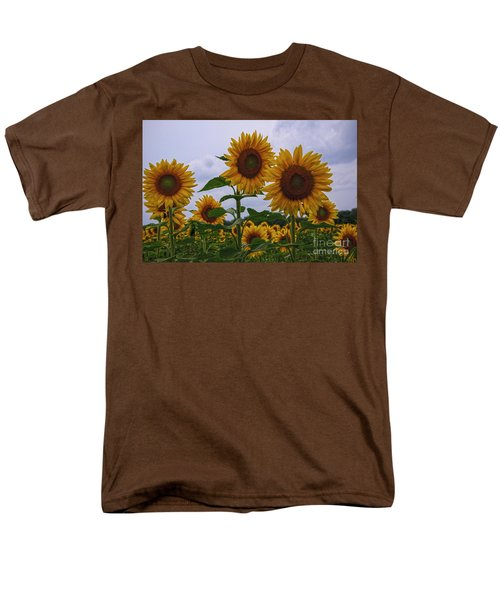 Men's T-Shirt  (Regular Fit) featuring the photograph Sunny Faces by Debra Fedchin