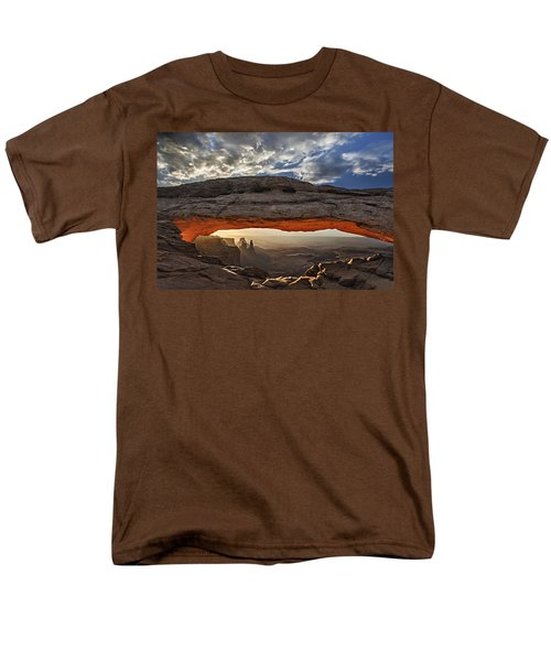 Sunrise At Mesa Arch Men's T-Shirt  (Regular Fit) by Roman Kurywczak