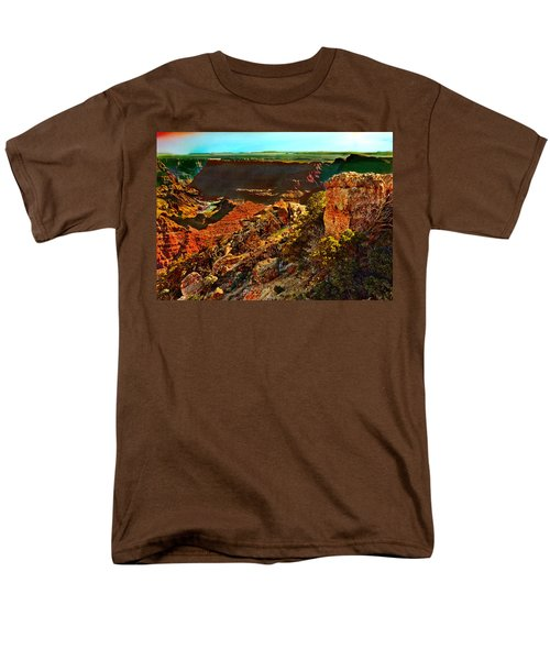 Sunrise Lipan Point Grand Canyon Men's T-Shirt  (Regular Fit) by Bob and Nadine Johnston