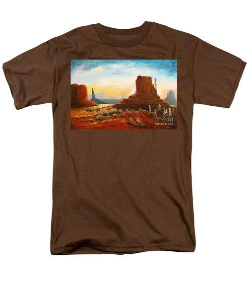 Sunrise Stampede Men's T-Shirt  (Regular Fit) by Marilyn Smith
