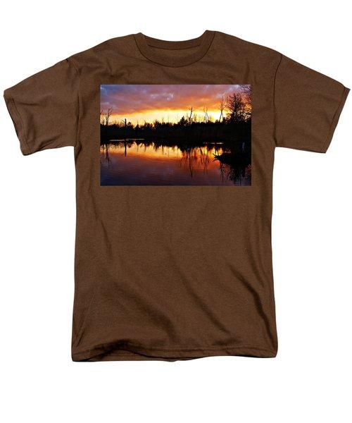 Sunrise Thanksgiving Morning Men's T-Shirt  (Regular Fit) by Joe Faherty