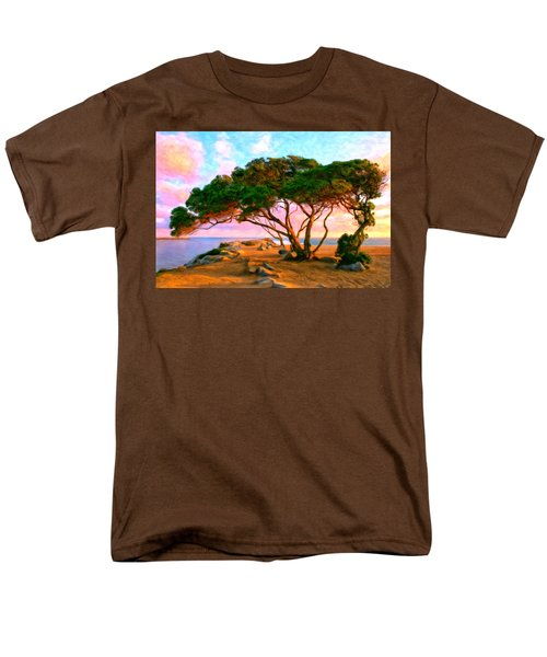 Sunset At The Wedge In Newport Beach Men's T-Shirt  (Regular Fit) by Michael Pickett