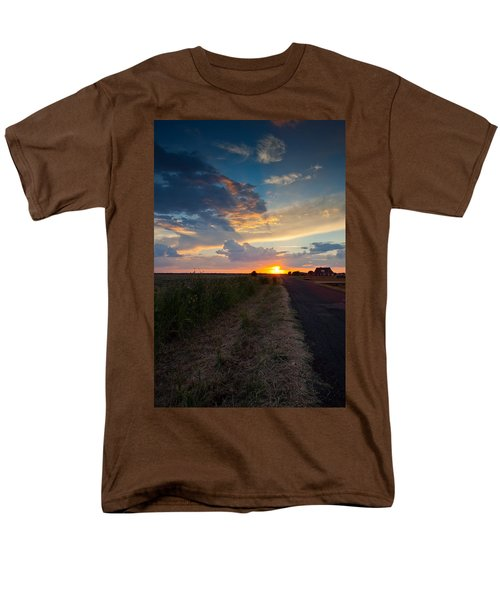 Sunset Down A Country Road Men's T-Shirt  (Regular Fit) by Mark Alder